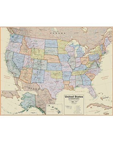 United States of America Wall Map (Boardroom) (Boardroom)
