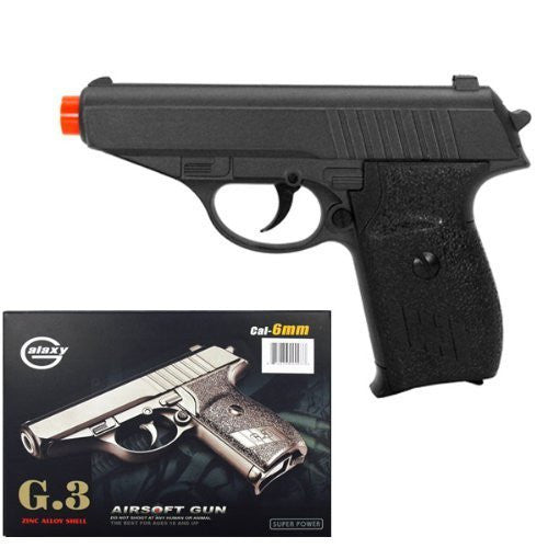 "Exercise Gear, Fitness, G3 Heavy Metal Airsoft Pistol Gun 6"" Long Shape UP, Sport, Training"