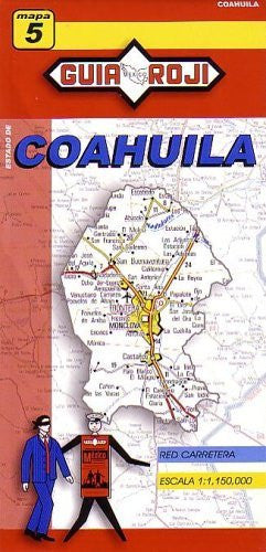 us topo - Coahuila State Map by Guia Roji (English and Spanish Edition) - Wide World Maps & MORE! - Book - Guia Roji - Wide World Maps & MORE!