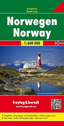Norway 1:600K Road Map FB (English, French and German Edition)