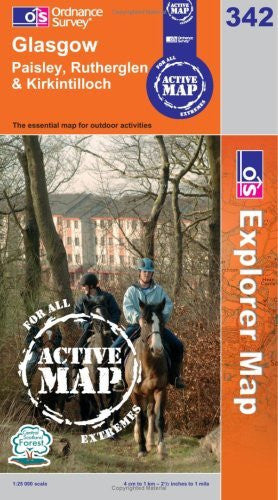 us topo - Glasgow (OS Explorer Map Active) - Wide World Maps & MORE! - Book - Wide World Maps & MORE! - Wide World Maps & MORE!