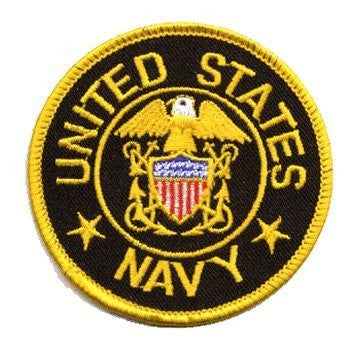 U.S. Navy: An Embroidered Iron-On Patch (Two Pack)