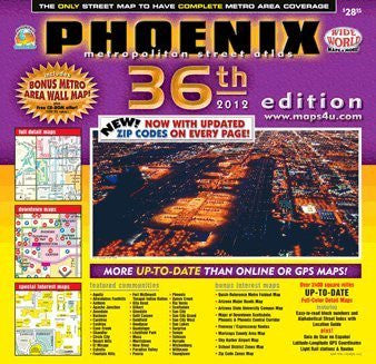 Phoenix Metropolitan Street Atlas 36th (2012) Edition (Yellow1)
