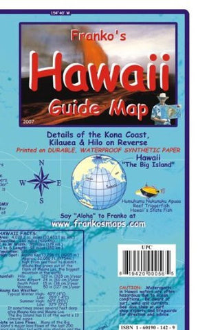 us topo - Hawaii The Big Island Guide Franko Maps Waterproof Map - Wide World Maps & MORE! - Book - FrankosMaps - Wide World Maps & MORE!