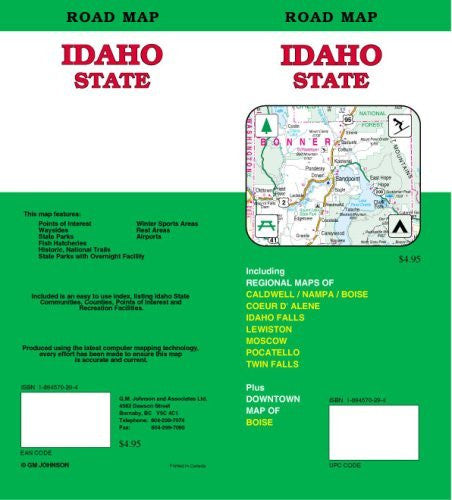 Idaho State Road Map