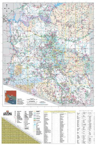 Official State of Arizona Visitors' Map Gloss Laminated