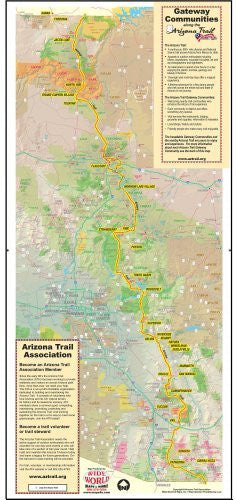 Gateway Communities Along the Arizona Trail - Wide World Maps & MORE! - Map - Wide World Maps & MORE! - Wide World Maps & MORE!