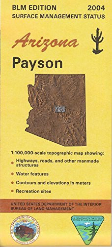 us topo - Surface Management Status 1:100,000-scale Topographic Map of Payson, Arizona - Wide World Maps & MORE! - Book - Wide World Maps & MORE! - Wide World Maps & MORE!