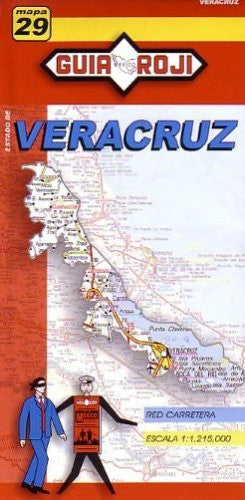 Veracruz State Map by Guia Roji (Spanish Edition)