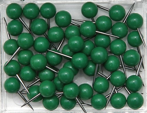 1/4 Inch Map Tacks - Dark Green