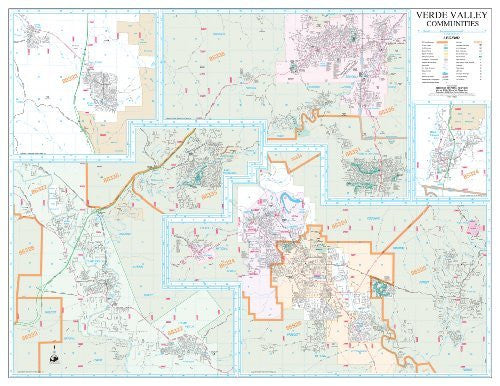 Verde Valley Communities Wall Map Dry Erase Laminated