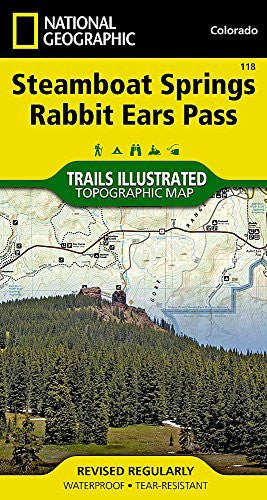us topo - Steamboat Springs, Rabbit Ears Pass (National Geographic Trails Illustrated Map) - Wide World Maps & MORE! - Book - National Geographic - Wide World Maps & MORE!
