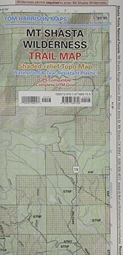 Mt Shasta Wilderness Trail Map (Tom Harrison Maps)