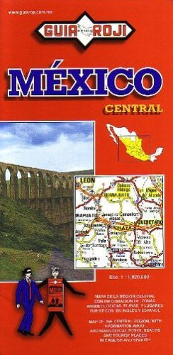 Mexico Central Map by Guia Roji (Bilingual) (Spanish Edition) (English and Spanish Edition)