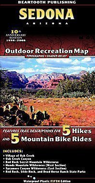 us topo - Sedona, AZ Outdoor - Wide World Maps & MORE! - Book - Beartooth Publishing - Wide World Maps & MORE!