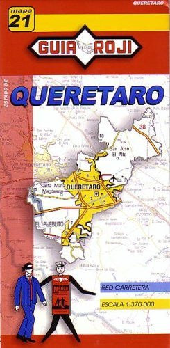 us topo - Queretaro State Map by Guia Roji (English and Spanish Edition) - Wide World Maps & MORE! - Book - Guia Roji - Wide World Maps & MORE!