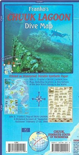 us topo - Chuuk (Truk) Lagoon Dive & Wreck Map & Operation Hailstone Franko Maps Waterproof Map - Wide World Maps & MORE! - Book - FrankosMaps - Wide World Maps & MORE!