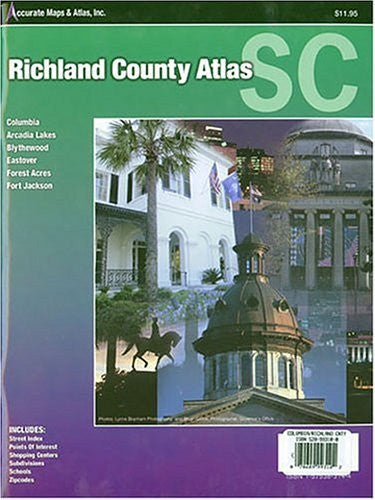 us topo - Richland County Atlas Scouth Carolina Columbia, Arcadia Lakes, Blythewood,: Eastover, Forest Acres and Fort Jackson - Wide World Maps & MORE! - Book - Wide World Maps & MORE! - Wide World Maps & MORE!
