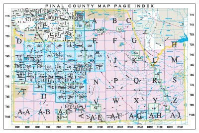 us topo - Pinal County Map Page Index (Yellow1) - Wide World Maps & MORE! - Book - Wide World Maps & MORE! - Wide World Maps & MORE!