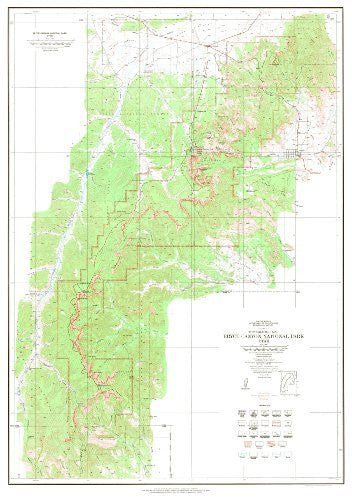 Topographic Map Bryce Canyon National Park, Utah Gloss Laminated (TUT2222) (TUT2222)