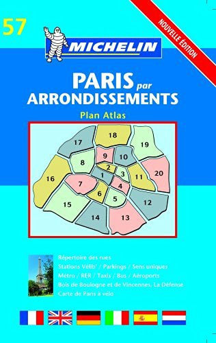 Paris Arrondissements Atlas- Michelin (Michelin Maps)