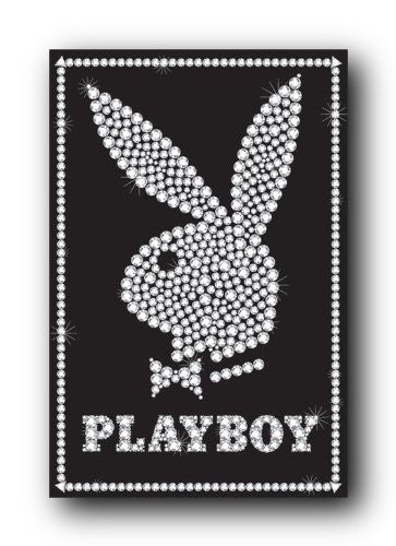 Playboy Black Bling Logo Sexy Bunny Poster Pp30821 A