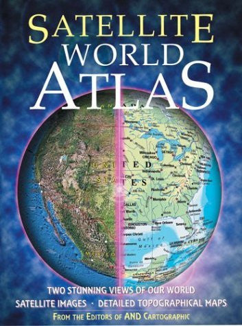 us topo - Satellite World Atlas: Two Stunning Views of Our World - Wide World Maps & MORE! - Book - Brand: MetroBooks - Wide World Maps & MORE!