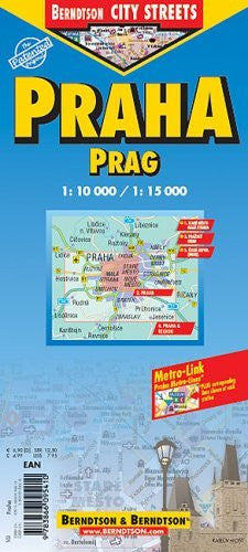 Prague City Streets Laminated Map - Wide World Maps & MORE! - Book - Wide World Maps & MORE! - Wide World Maps & MORE!