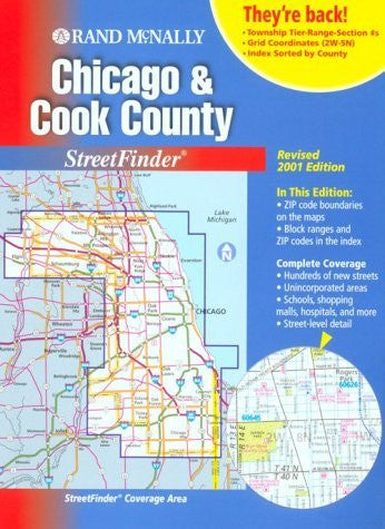 Rand McNally Chicago and Cook County Streetfinder 2001 (Rand Mcnally Chicago and Cook County Street Guide)