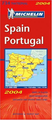 Michelin Spain & Portugal Map No. 734 (Michelin Maps)