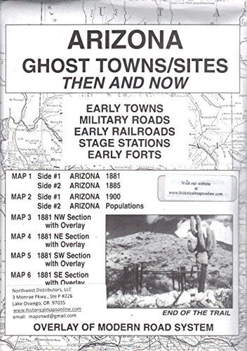 us topo - Arizona Ghost Towns / Sites Then and Now - Wide World Maps & MORE! - Book - Wide World Maps & MORE! - Wide World Maps & MORE!