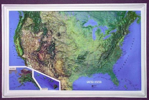 U.S. NCR Series Raised Relief Map Unframed - Small