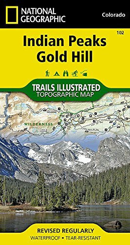 Indian Peaks, Gold Hill (National Geographic Trails Illustrated Map)