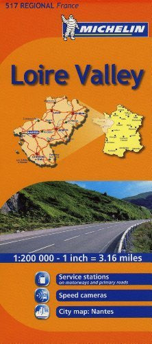 Michelin Map France: Loire Valley 517 (1:200K) (Maps/Regional (Michelin)) (English and French Edition)