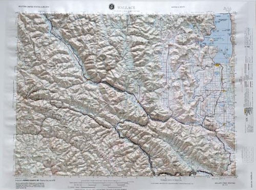 us topo - Wallace, Idaho; Montana - Wide World Maps & MORE! - Book - Wide World Maps & MORE! - Wide World Maps & MORE!