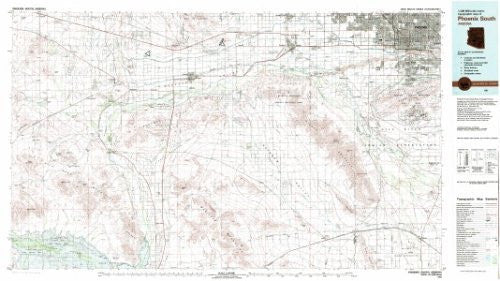 Phoenix South Arizona 1:100,000-scale USGS Topographic Map: 30 X 60 Minute Series (1981)