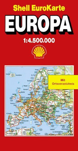 Shell EuroKarte Europa 1:4.500.000: Neu, mit Distanzenkarte = Shell EuroKarte Europe 1:4.500.000 (Marco Polo) (German Edition) - Wide World Maps & MORE! - Book - Wide World Maps & MORE! - Wide World Maps & MORE!