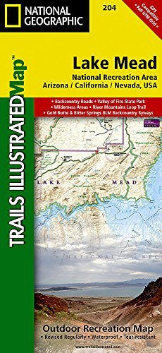 Lake Mead National Recreation Area (National Geographic Trails Illustrated Map)