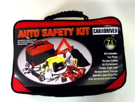 Car and Driver 71 Piece Auto Safety & Emergency Kit