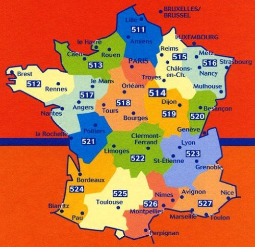 Michelin Map 513 Normandie (Normandy - France) (Haute Resistance) (Tear-Resistant) (Multilingual Edition)