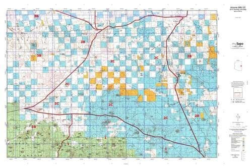 us topo - Arizona GMU 2C Hunt Area / Game Management Units (GMU) Map - Wide World Maps & MORE! - Book - Wide World Maps & MORE! - Wide World Maps & MORE!
