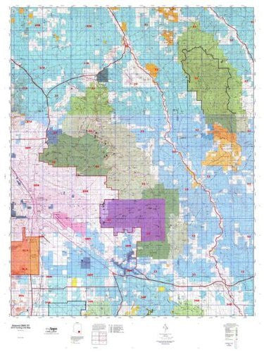 us topo - Arizona GMU 33 Hunt Area / Game Management Units (GMU) Map - Wide World Maps & MORE! - Book - Wide World Maps & MORE! - Wide World Maps & MORE!