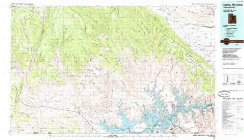 Smoky Mountain Utah - Arizona 1:100,000-scale Topographic USGS Map: 30 X 60 Minute Series (1985)
