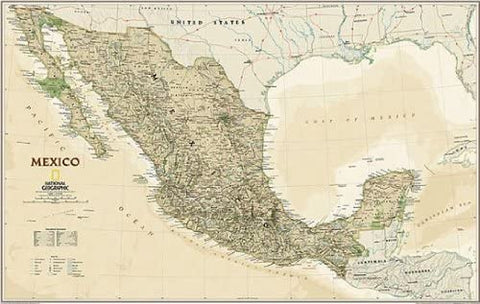 Mexico Executive Wall Map Material: Paper - Wide World Maps & MORE! - Home - National Geographic Maps - Wide World Maps & MORE!