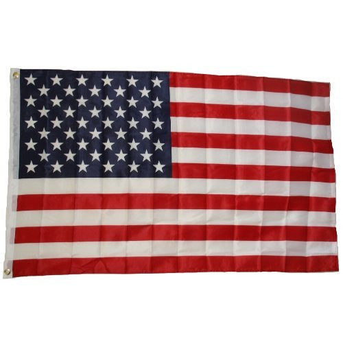 us topo - 3' X 5' American Flag - Wide World Maps & MORE! - Lawn & Patio - Ruffin Flag - Wide World Maps & MORE!