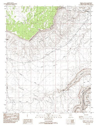 us topo - Emmett Wash, Arizona 7.5' - Wide World Maps & MORE! - Book - Wide World Maps & MORE! - Wide World Maps & MORE!