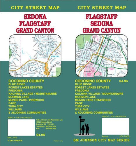 Flagstaff / Sedona / Grand Canyon AZ Street Map