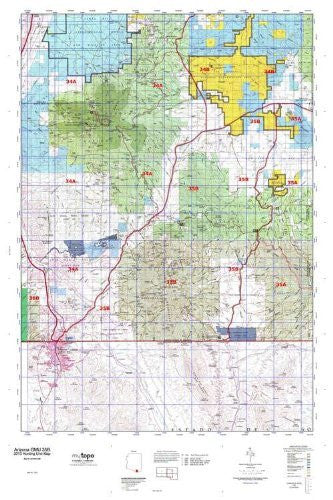 us topo - Arizona GMU 35B Hunt Area / Game Management Units (GMU) Map - Wide World Maps & MORE! - Book - Wide World Maps & MORE! - Wide World Maps & MORE!