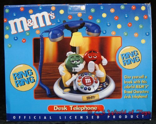M&M's Desk Telephone - Wide World Maps & MORE! - Toy - Mars - Wide World Maps & MORE!
