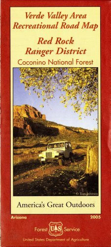 Verde Valley Area Recreational Road Map, Red Rock Ranger District, Coconino National Forest (America's Great Outdoors)